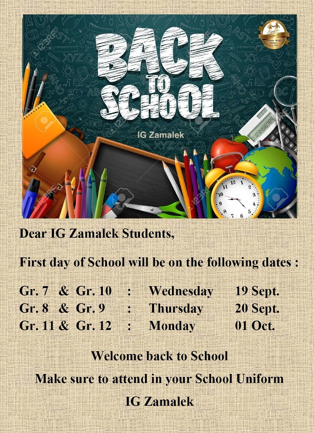 IG Zamalek : Back to School 2019